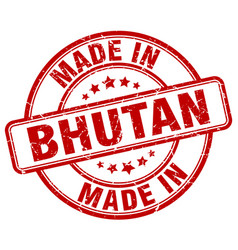 Made in bhutan vector