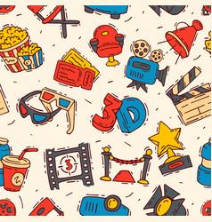 Movie cinema icons moviemaking creator hand vector