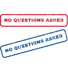No questions asked rubber stamps vector