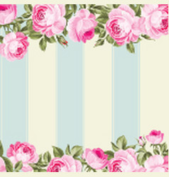 ornate pink flower border vector image vector image