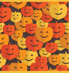 paper pumpkin pattern vector image vector image