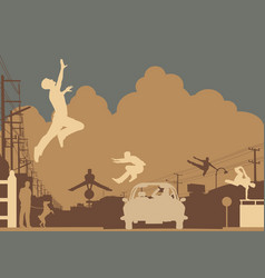 Parkour color vector image