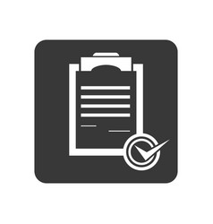 Quality control icon with checklist sign vector