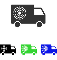 Shooting gallery truck flat icon vector
