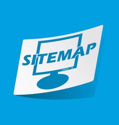 Sitemap sticker vector