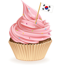 South korean cupcake vector