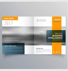 Stylish minimal yellow and blue theme magazine vector