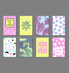 summer journaling cards vector image vector image
