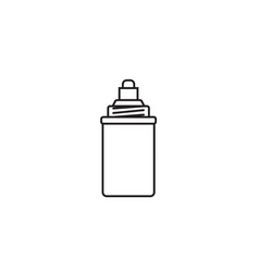 Water filter icons linear style vector