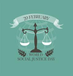World social justice day emblem vector