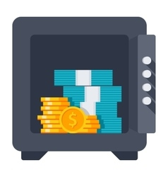 Opened safe icon vector