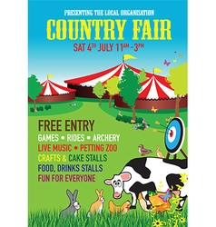 country fair background vector image