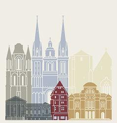 Angers skyline poster vector