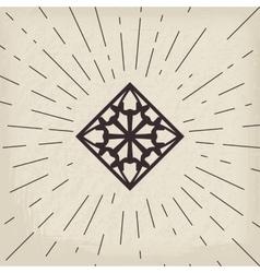 Asian geometric symbol vector