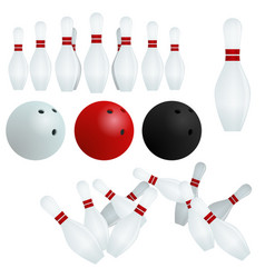 isolated skittles white red black balls on vector image