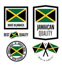 Jamaica quality label set for goods vector