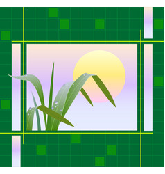 early dew vector image