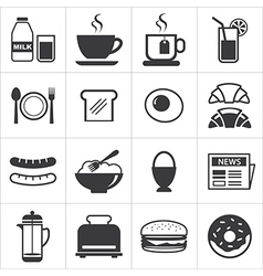 Set of breakfast icon vector
