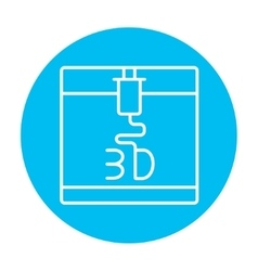 Tree d printing line icon vector