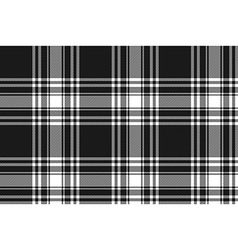 Menzies tartan black kilt fabric texture seamless vector