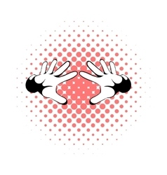 Magicians hands icon comics style vector