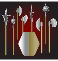 Medieval weapons vector