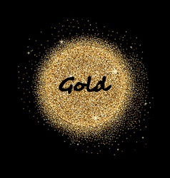 Gold glittering circle vector image