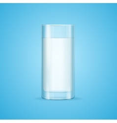 Realistic milk glass vector