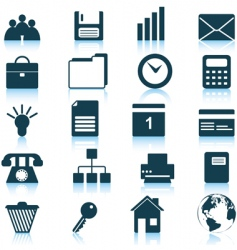 business and office icons set vector image
