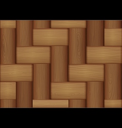 A topview of a wooden tile vector image vector image