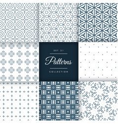 Abstract line flower style pattern collection vector