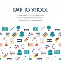 Back to school banner background poster concept vector image
