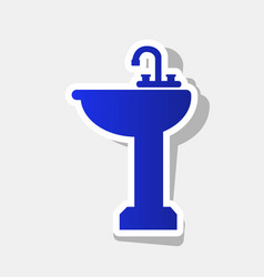 Bathroom sink sign new year bluish icon vector