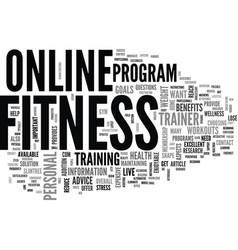benefits of online workouts text word cloud vector image vector image