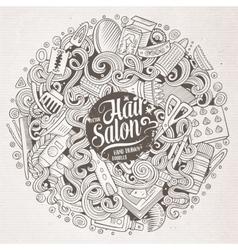 Cartoon doodles Hair salon vector image vector image