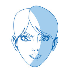 Character female face beauty short hair image vector