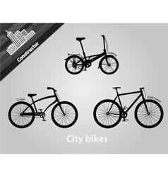 City bikes vector