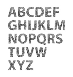 Fingerprint typography vector image vector image
