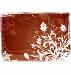 Floral vintage illustration vector