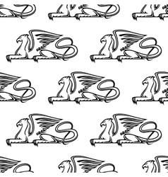 Gryphon seamless pattern vector image