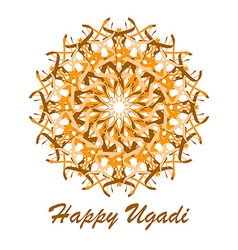 Happy ugadi banner vector