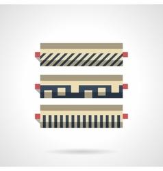 Linoleum in store flat color icon vector image vector image
