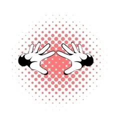 Magicians hands icon comics style vector