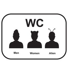 Male and female alien restroom vector image vector image