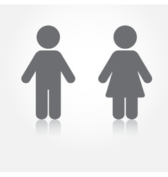 Man and woman toilet sign grey water vector