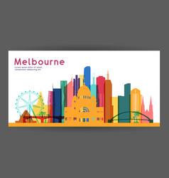Melbourne colorful architecture vector