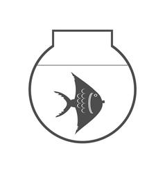 monochrome icon set with aquarium vector image