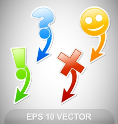 navigation stickers vector image vector image
