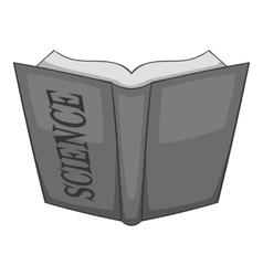 Open education book icon gray monochrome style vector