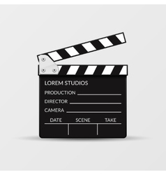 Realistic movie clapperboard vector image vector image